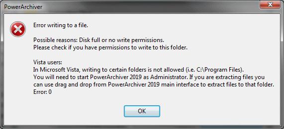 Spurious Error Message