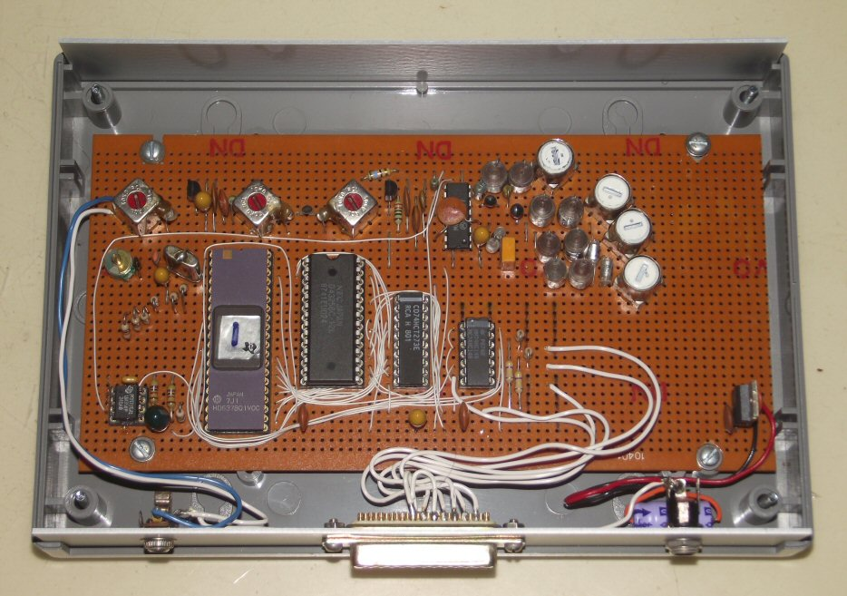 Inside view of the assembled stripboard